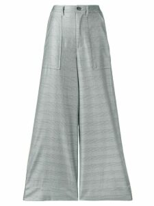 Ganni checked wide-leg trousers - Grey
