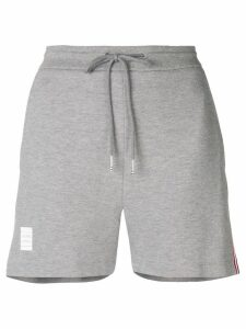 Thom Browne Rwb Stripe Piqué Shorts - Grey