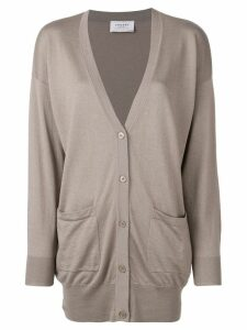 Snobby Sheep slouched long-sleeve cardigan - NEUTRALS