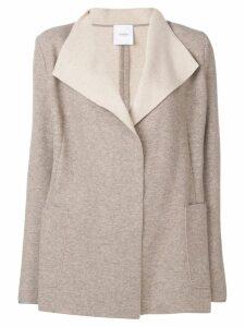 Agnona contrast draped cardigan - Neutrals