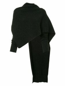 Isabel Benenato cropped asymmetric jumper - Black