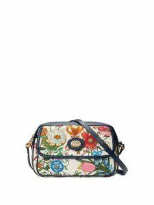 Gucci small flora shoulder bag - Blue