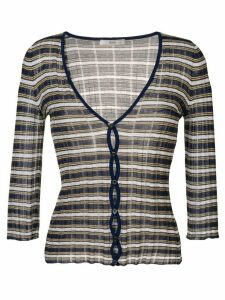 Prada Pre-Owned 2000 striped cardigan - Blue