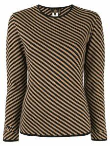 Fendi Pre-Owned diagonal striped jumper - Brown