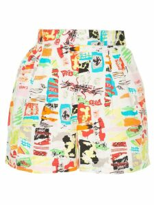 Chanel Pre-Owned CC printed shorts - White