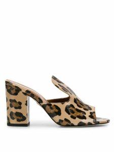 Paris Texas. leopard print sabot mules - NEUTRALS