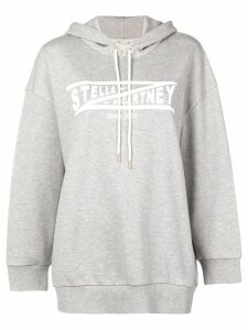 Stella McCartney logo drawstring hoodie - Grey