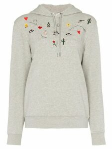 Ganni western isoli cotton hoodie - Grey