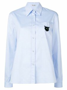 Miu Miu long sleeved shirt - Blue