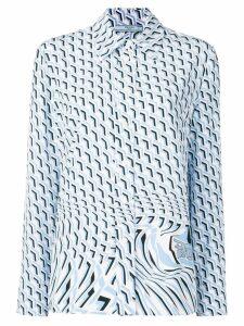 Prada geometric illusion-print shirt - Blue
