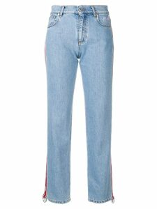 MSGM tape detail jeans - Blue