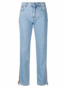 MSGM tape detail jeans - Blue