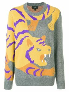 Rag & Bone cashmere intarsia tiger sweater - Grey