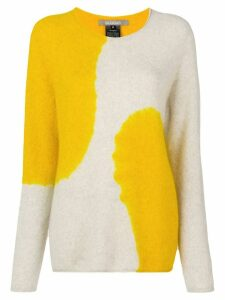 Suzusan two-tone printed sweater - NEUTRALS