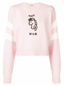 Miu Miu Not Nice jumper - PINK