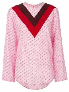 Stella McCartney V appliqué logo T-shirt - PINK