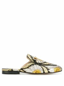 Gucci Princetown floral jacquard mules - Black