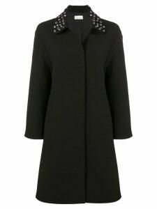 Red Valentino eyelet collar coat - Black