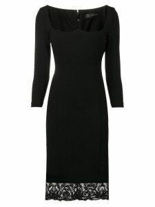 Versace lace detailed dress - Black
