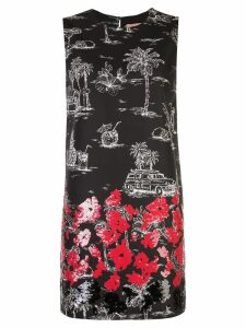 Nº21 palm trees dress - Black
