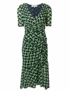 Diane von Furstenberg Farrell printed dress - Green