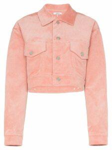 GANNI Ridgewood cropped corduroy jacket - PINK