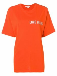 Golden Goose printed T-shirt - ORANGE