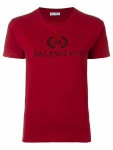 Balenciaga logo printed T-shirt - Red