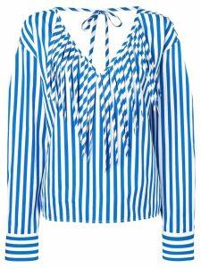 MSGM striped blouse - Blue