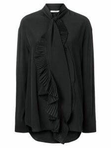 Givenchy ruffled scarf neck blouse - Black