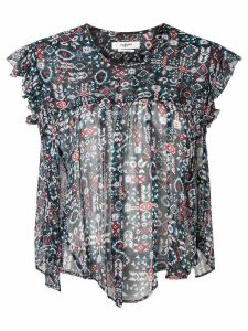 Isabel Marant Étoile printed sheer blouse - Black