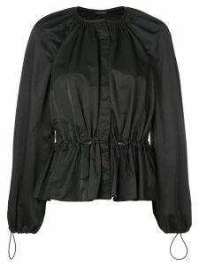 Josie Natori drawstring waist blouse - Black