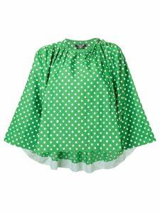 Calvin Klein 205W39nyc polka dot pattern blouse - Green