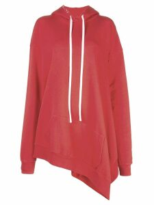 Unravel oversized long hoodie - Red