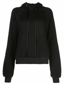Unravel Project ripped neck hoodie - Black