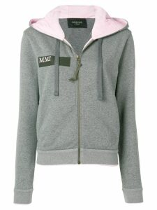 Mr & Mrs Italy pegasus embroidered hoodie - Grey