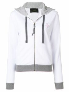 Mr & Mrs Italy contrast trim hoodie - White