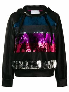No Ka' Oi sequinned stripes hoodie - Black