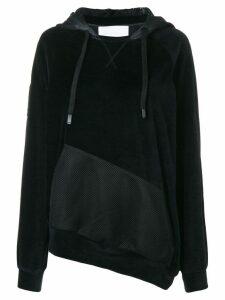 No Ka' Oi asymmetric hoodie - Black