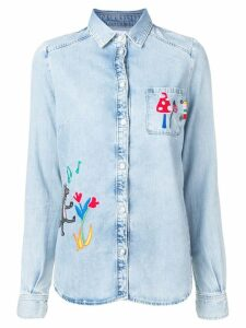 Mira Mikati fairytale embroidered denim shirt - Blue