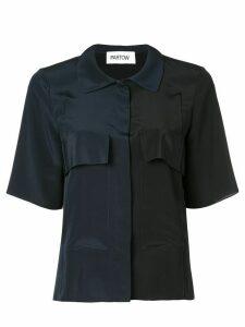 Partow two-tone shirt - Black