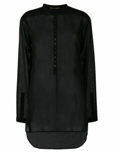 Saint Laurent sheer long-sleeve shirt - Black