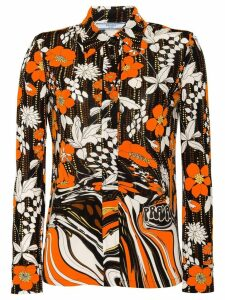 Prada flower print shirt - ORANGE