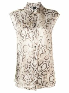 Pinko snake print shirt - Brown