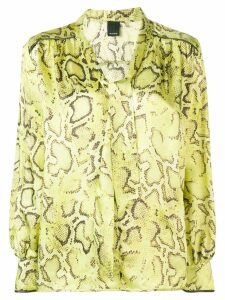 Pinko snake print shirt - Yellow