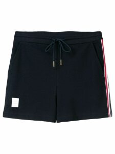 Thom Browne Rwb Stripe Piqué Shorts - Blue