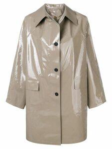 Kassl Editions Lacquer raincoat - Grey