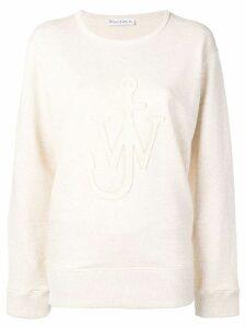 JW Anderson logo melange sweatshirt - NEUTRALS