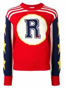 Red Valentino graphic intarsia sweater