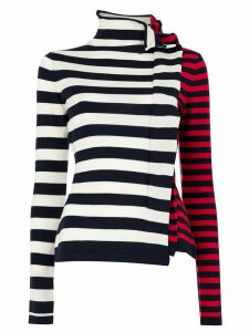Monse ruffled striped jumper - Blue